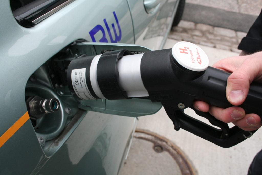 Betankung Wasserstoffauto