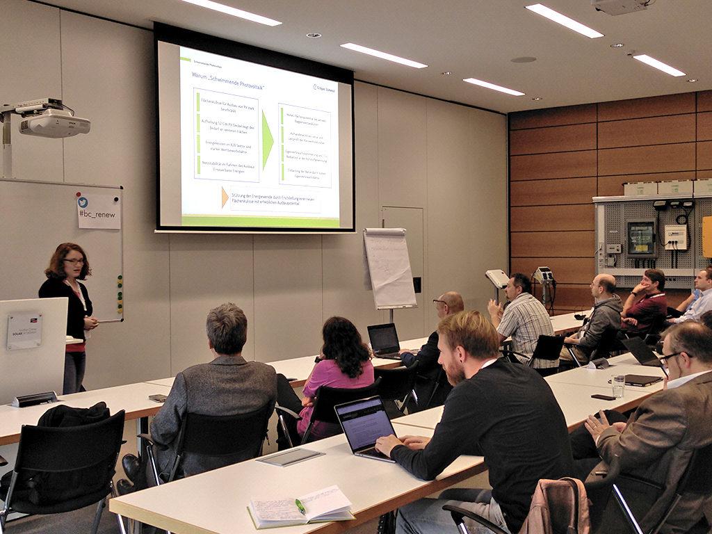 Vortrag über das Erdgas Südwestprojekt einer Schwimmenden Photovoltaikanlage in Renchen