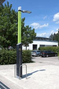 Smight E-Ladesaeule zur Förderung der Elektromobilität.