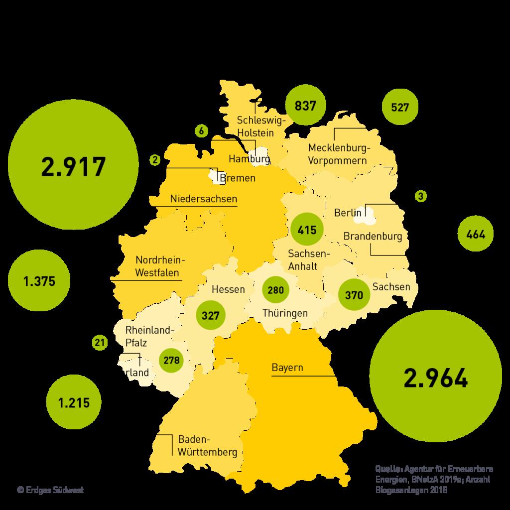 Karte Biogasanlagen Deutschland
