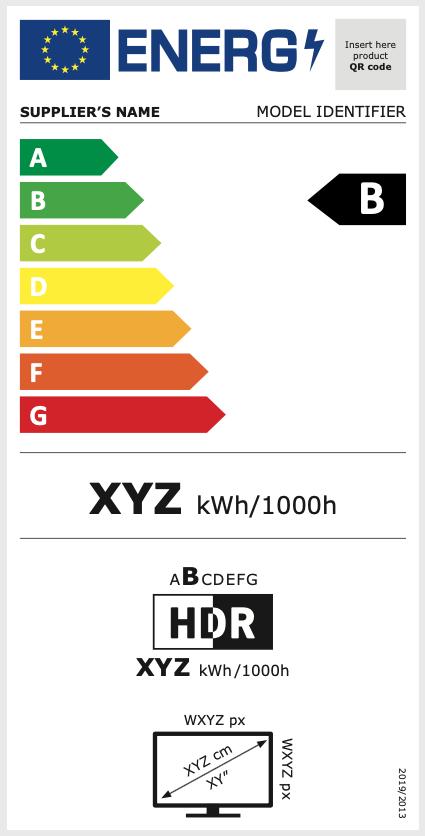 Muster des Energiesparlabels für Bildschirme
