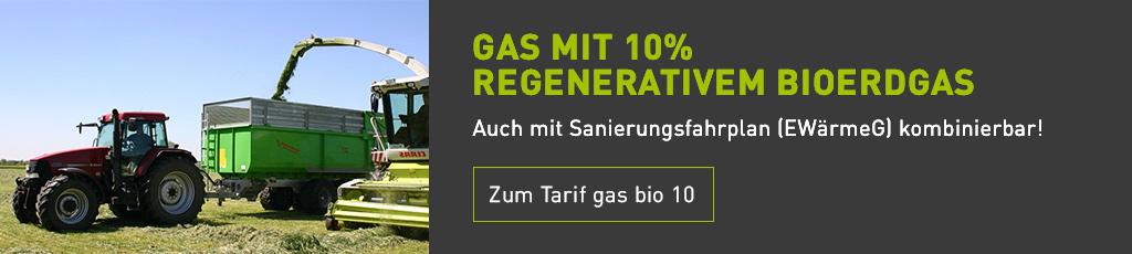 Banner Biogas Tarif Bio10