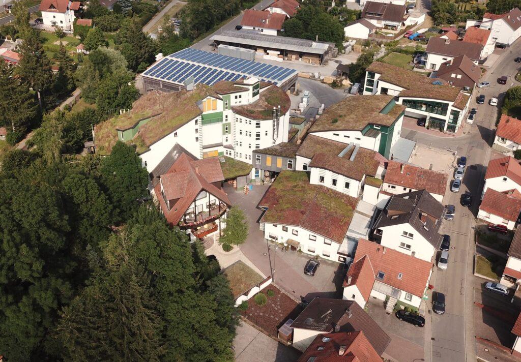 Luftaufnahme der St. Hippolyt Mühle Ebert in