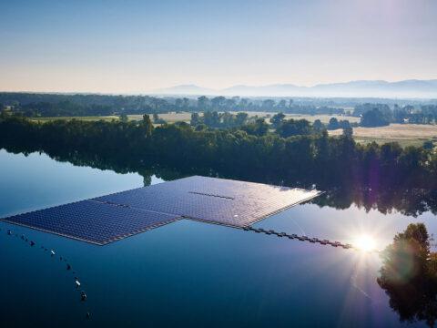 Schwimmende Photovoltaikanlage in Renchen