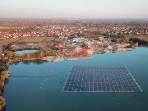Schwimmende Photovoltaikanlage Leimersheim