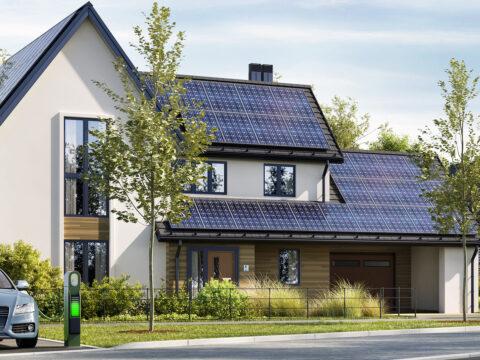 Photovoltaik auf Hausdächern mit Stromspeichern