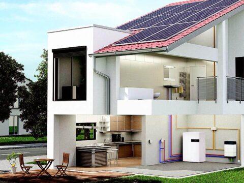 Installation einer Brennstoffzellenheizung in einem Haus